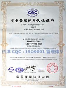 侨洋实业ISO9001管理体系
