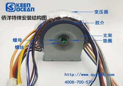 侨洋特殊环形变压器安装结构图
